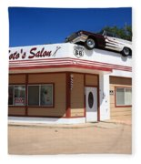 Route 66 - Desoto's Salon Fleece Blanket