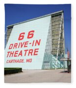 Route 66 Drive-in Theatre Fleece Blanket