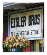 Route 66 - Eisler Brothers Old Riverton Store Fleece Blanket