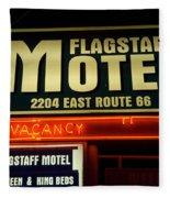 Route 66 Flagstaff Motel Fleece Blanket