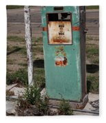 Route 66 Gas Pump - Adrian Texas Fleece Blanket