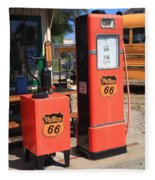 Route 66 Gas Pumps Fleece Blanket