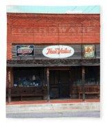 Route 66 - Hardware Store Erick Oklahoma Fleece Blanket