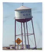 Route 66 - Leaning Water Tower Fleece Blanket