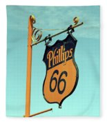 Route 66 - Mclean Texas Fleece Blanket