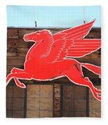 Route 66 - Mobil Pegasus Fleece Blanket