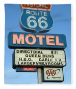 Route 66 Motel Sign 3 Fleece Blanket