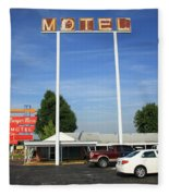 Route 66 - Munger Moss Motel Fleece Blanket