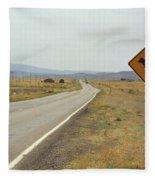Route 66 - New Mexico Highway Fleece Blanket