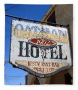 Route 66 - Oatman Hotel Fleece Blanket