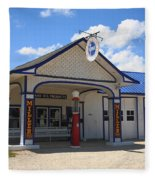 Route 66 - Odell Gas Station 7 Fleece Blanket