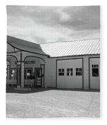 Route 66 - Odell Gas Station Fleece Blanket