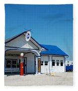 Route 66 Odell Il Gas Station 02 Fleece Blanket