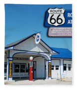Route 66 Odell Il Gas Station Signage 01 Fleece Blanket