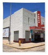 Route 66 - Odeon Theater Fleece Blanket