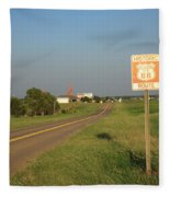 Route 66 - Oklahoma Fleece Blanket