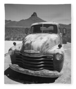 Route 66 - Old Chevy Pickup Fleece Blanket
