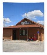 Route 66 - Old Log Cabin 3 Fleece Blanket