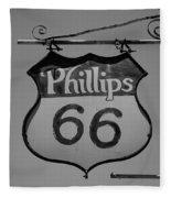 Route 66 - Phillips 66 Petroleum Fleece Blanket