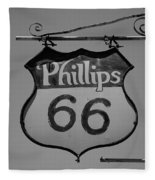 Route 66 - Phillips 66 Petroleum Fleece Blanket
