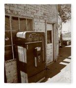 Route 66 - Rusty Coke Machine 2 Fleece Blanket