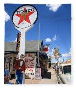 Route 66 - Seligman Arizona Fleece Blanket