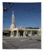 Route 66 - Shamrock Texas Fleece Blanket