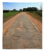 Route 66 - Sidewalk Highway Fleece Blanket