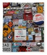 Route 66 Signs Fleece Blanket