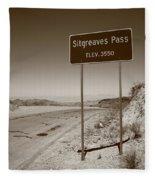 Route 66 - Sitgreaves Pass Fleece Blanket