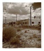 Route 66 - Twin Arrows Trading Post Fleece Blanket