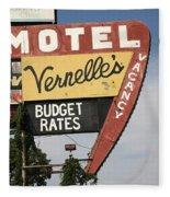 Route 66 - Vernelle's Motel Fleece Blanket