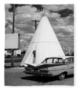 Route 66 - Wigwam Motel 7 Fleece Blanket