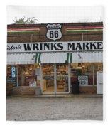 Route 66 - Wrink's Market Fleece Blanket