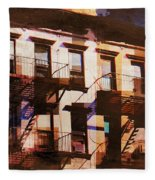 Row Houses - Old Buildings And Architecture Of New York City Fleece Blanket