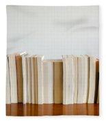 Row Of Books Fleece Blanket
