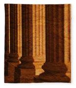 Row Of Large Columns Fleece Blanket