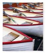 Rowboats Fleece Blanket