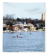 Rowing At Boathouse Row Fleece Blanket
