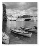 Rowing Boats Fleece Blanket