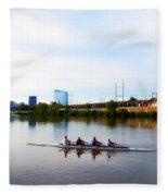 Rowing In Philadelphia Fleece Blanket