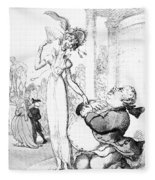 Rowlandson: Cartoon, 1810 Fleece Blanket