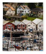 Rows Of Houses And Sails Fleece Blanket