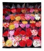 Rows Of Roses Fleece Blanket