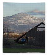 Roxy Ann And The Dark Barn Fleece Blanket