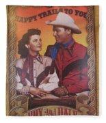 Roy And Dale Fleece Blanket