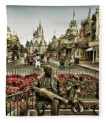 Roy And Minnie Mouse Antique Style Walt Disney World Fleece Blanket