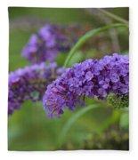 Royal Butterfly Bush Fleece Blanket