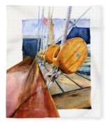 Royal Clipper Ships Tackle Fleece Blanket
