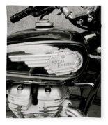 Royal Enfield Motorbike Fleece Blanket